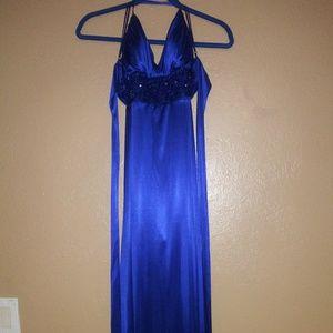 Blue/purple semi formal gown 11/12